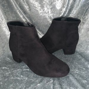 short suede ankle booties
